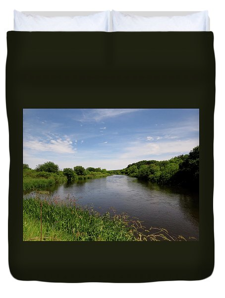 Duvet Cover featuring the photograph Turtle Creek by Kimberly Mackowski