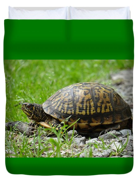 Turtle Crossing Duvet Cover