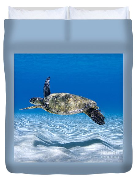 Turtle Flight -  Part 2 Of 3  Duvet Cover