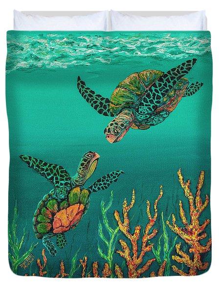 Turtle Love Duvet Cover