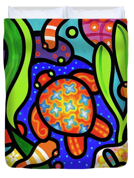Turtle Reef Duvet Cover