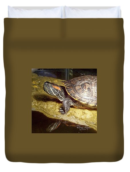 Turtle Reflections Duvet Cover