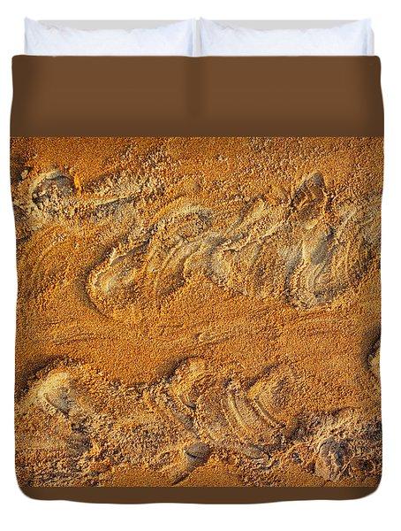 Turtle Tracks Duvet Cover