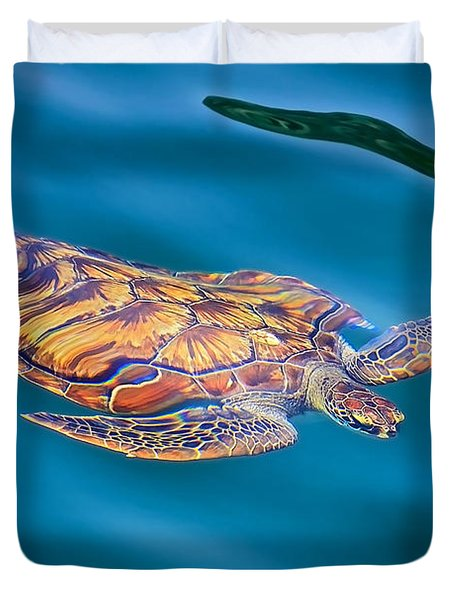 Turtle Up Duvet Cover