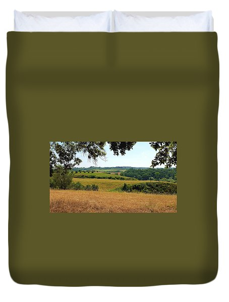 Duvet Cover featuring the photograph Tuscan Country by Valentino Visentini
