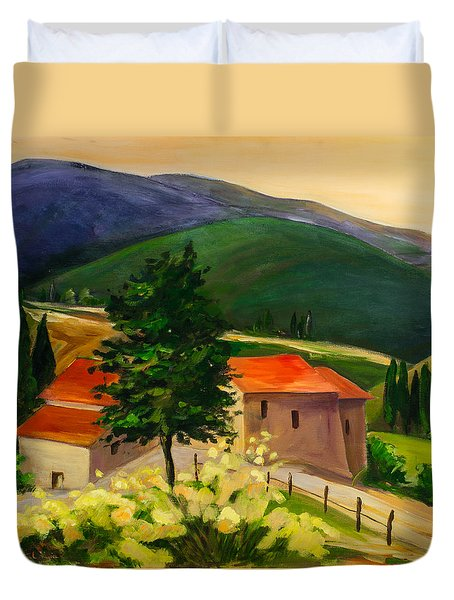 Tuscan Hills Duvet Cover by Elise Palmigiani
