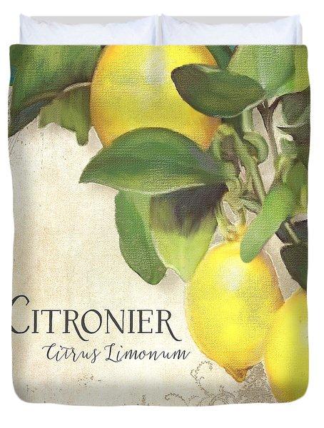 Tuscan Lemon Tree - Citronier Citrus Limonum Vintage Style Duvet Cover