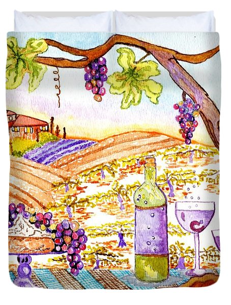 Tuscan Living In Style Duvet Cover by Connie Valasco