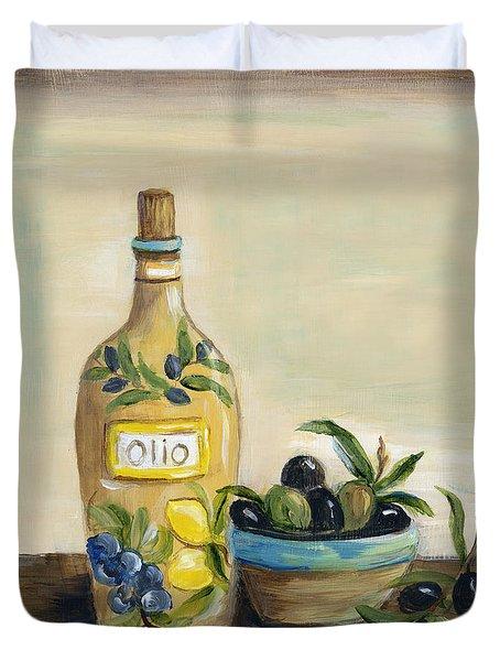 Tuscan Olive Oil  Duvet Cover