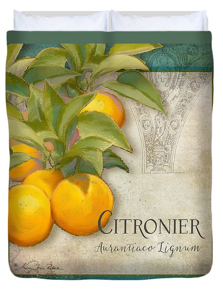 Tuscan Orange Tree - Citronier Aurantiaco Lignum Vintage Duvet Cover