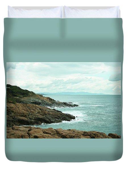 Tuscan Seaside Duvet Cover by Aleksandra Konieczna