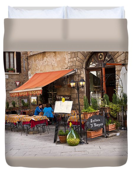 Tuscan Trattoria Duvet Cover by Rae Tucker