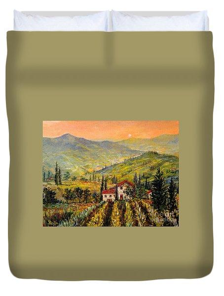 Tuscan Twilght Duvet Cover by Lou Ann Bagnall