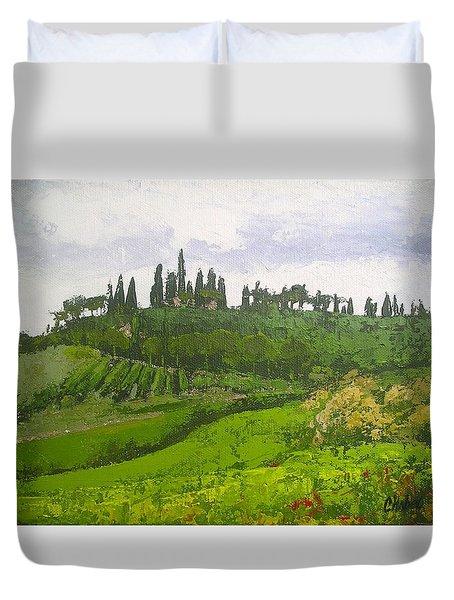 Tuscan Villa Hillside Duvet Cover