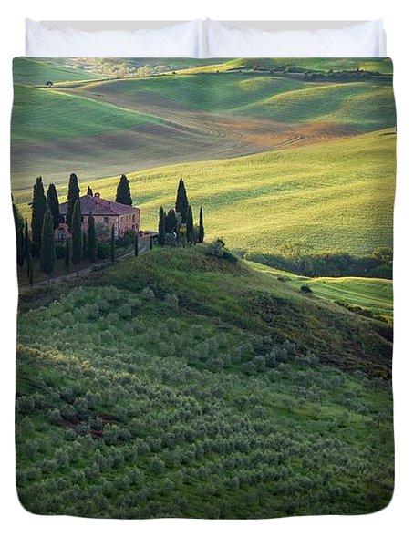 Green Hills Of Val De L' Orca Tuscan Villa Duvet Cover