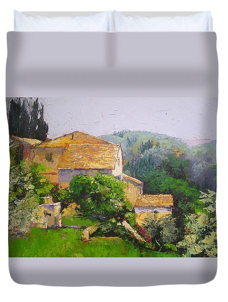 Tuscan Village Duvet Cover by Chris Hobel
