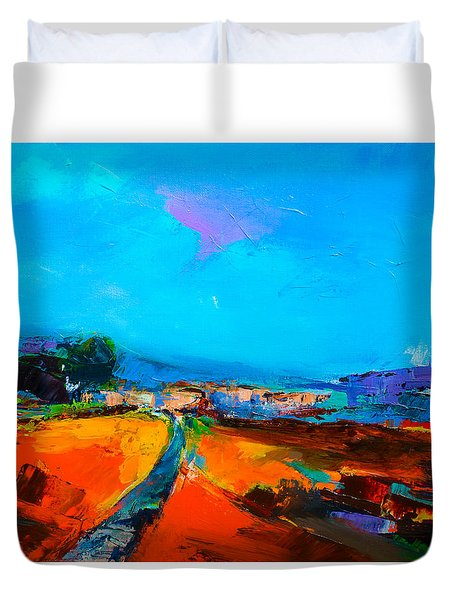 Tuscan Village Duvet Cover