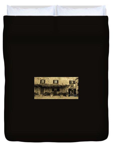 Tuscan Village Duvet Cover