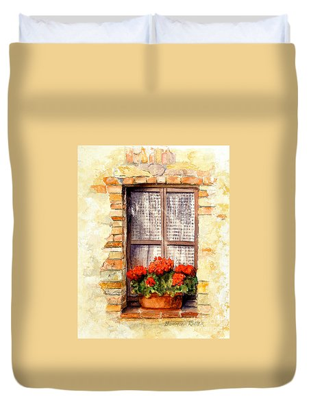 Tuscan Window Duvet Cover