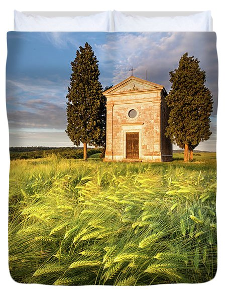 Tuscany Chapel Duvet Cover by Evgeni Dinev
