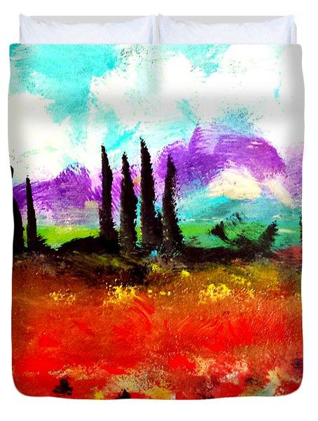 Tuscany Fields Duvet Cover