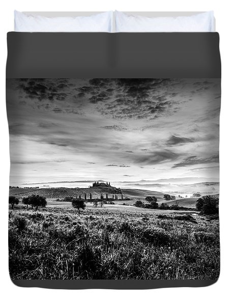 Tuscany In Bw Duvet Cover