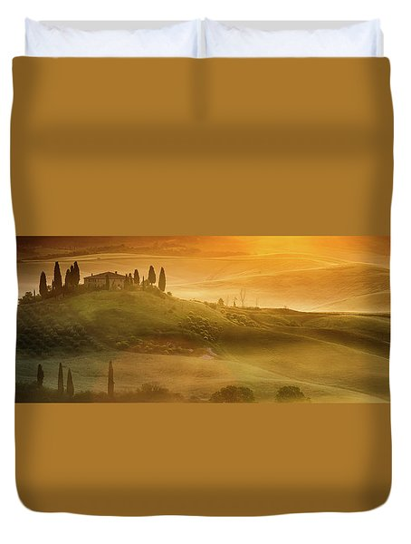 Tuscany In Golden Duvet Cover