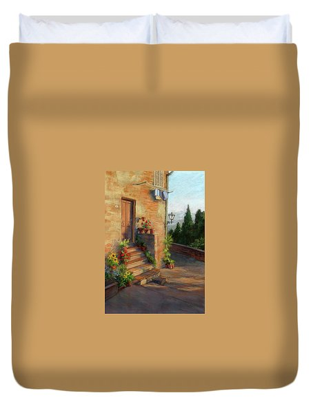 Tuscany Morning Light Duvet Cover