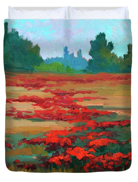 Tuscany Poppy Field Duvet Cover