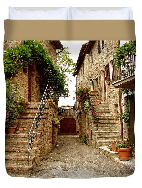 Tuscany Stairways Duvet Cover