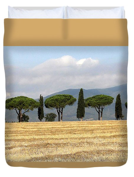 Tuscany Trees Duvet Cover