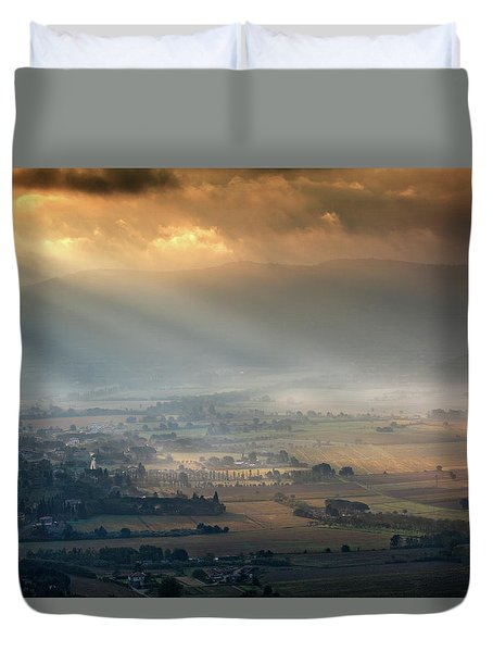 Tuscany Valley  Duvet Cover