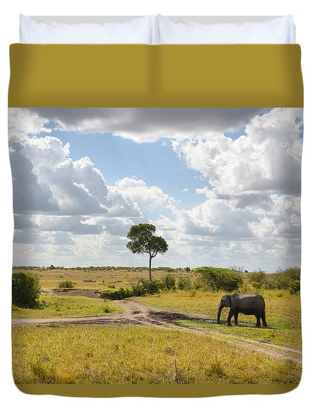 Tusker Scape Duvet Cover