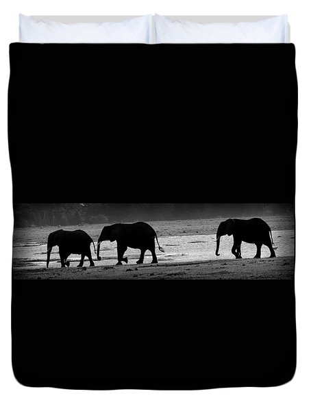 Tusks At Dusk Duvet Cover