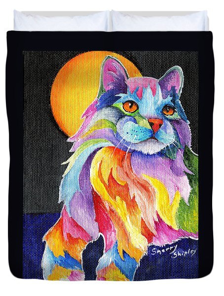 Tutti Fruiti Kitty Duvet Cover