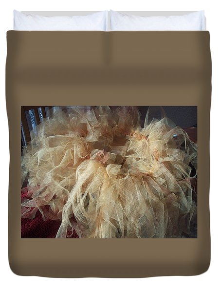 Duvet Cover featuring the painting Tutu by Judith Desrosiers