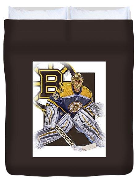 Tuukka Rask Boston Bruins Oil Art 1 Duvet Cover