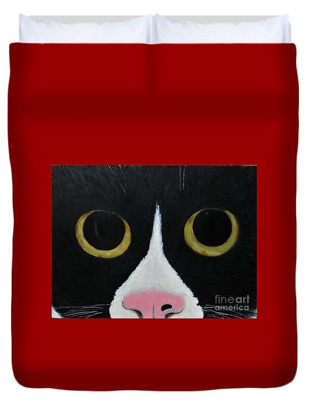 Tux Portrait  Duvet Cover