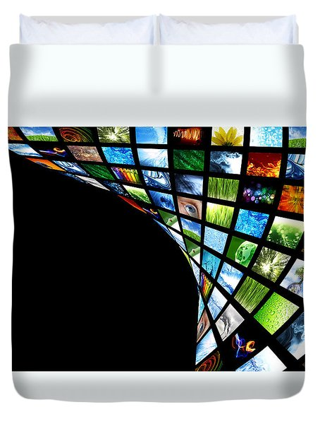 Tv Warp Wall Duvet Cover