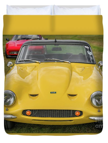 Duvet Cover featuring the photograph Tvr Vixen S2 1969 by Adrian Evans