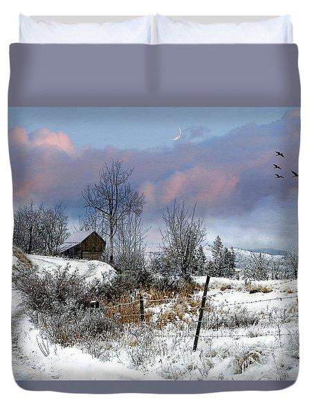 Twain's Barn Duvet Cover by Ed Hall