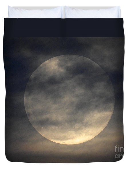 Twas The Night Before A Full Moon Duvet Cover