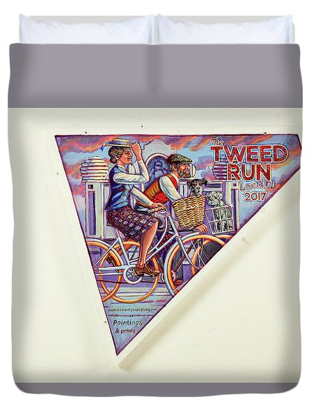 Tweed Run London Princess And Guvnor  Duvet Cover by Mark Jones