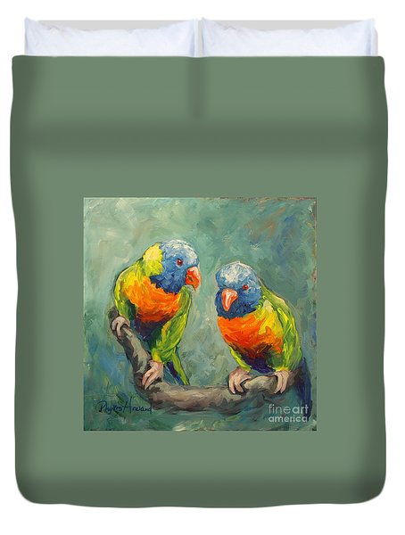 Tweeting Duvet Cover