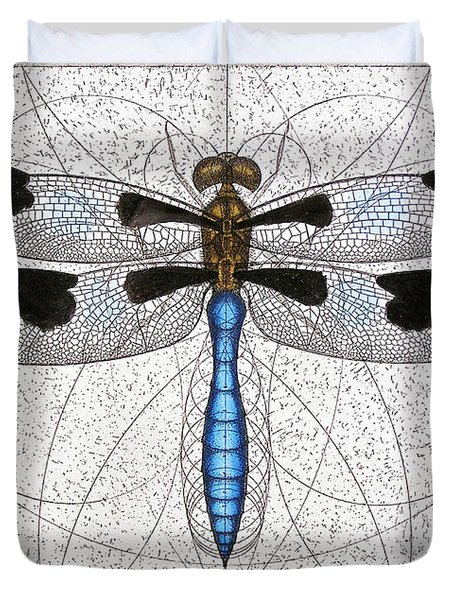 Twelve Spotted Skimmer Duvet Cover