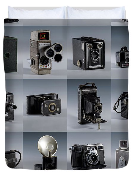 Twenty Old Cameras - Color Duvet Cover