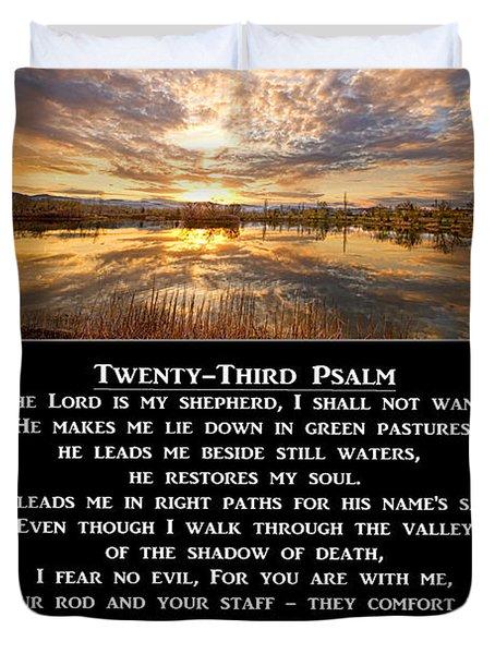 Twenty-third Psalm Prayer Duvet Cover