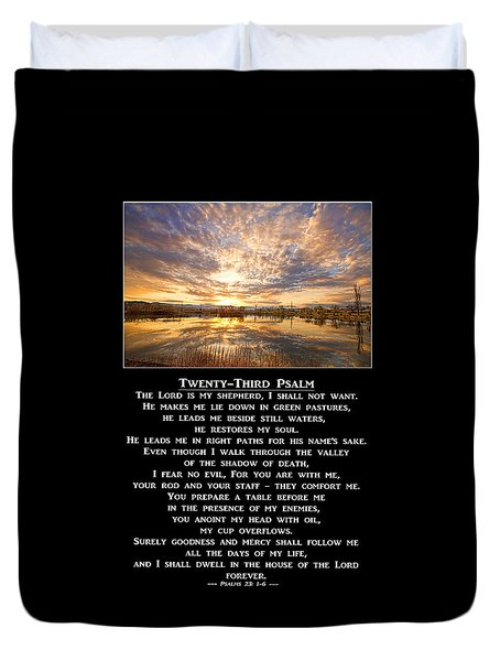 Twenty-third Psalm Prayer Duvet Cover
