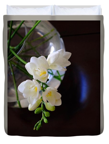 Twig Of Freesia Duvet Cover