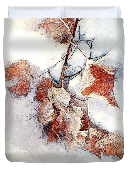 Duvet Cover featuring the photograph Twigged by Pennie  McCracken